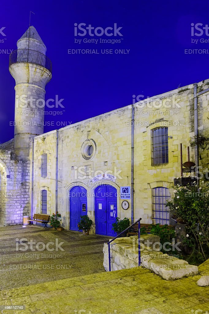 The Artist Quarter, Safed (Tzfat) stock photo