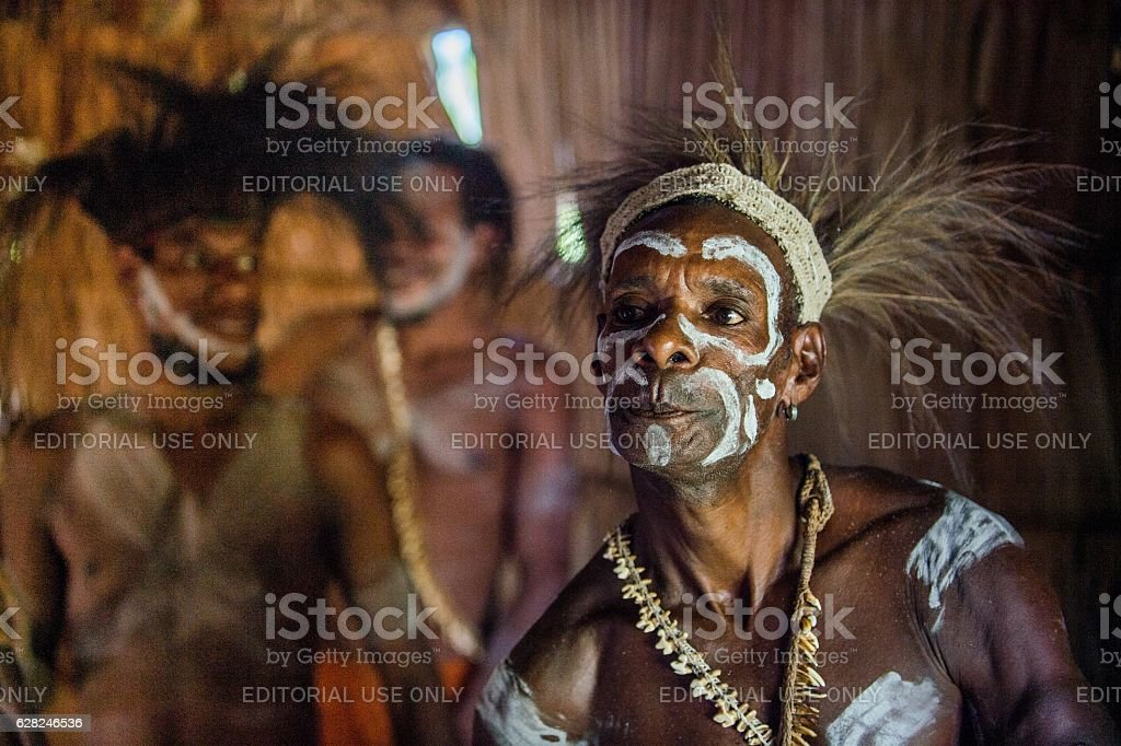 The Asmat people stock photo