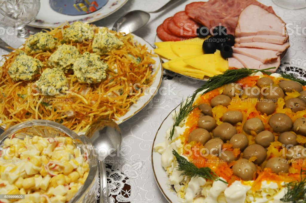 the assortment of food stock photo