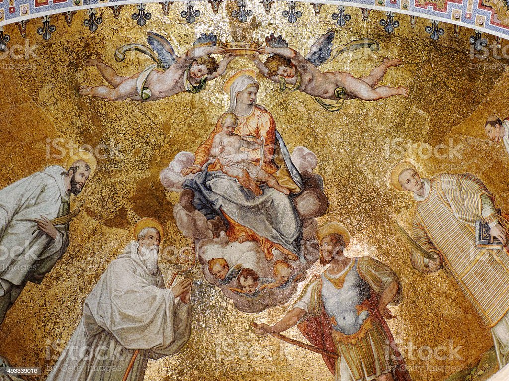 The Assumption of the Blessed Virgin Mary stock photo