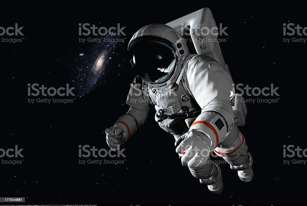 The astronaut royalty-free stock photo