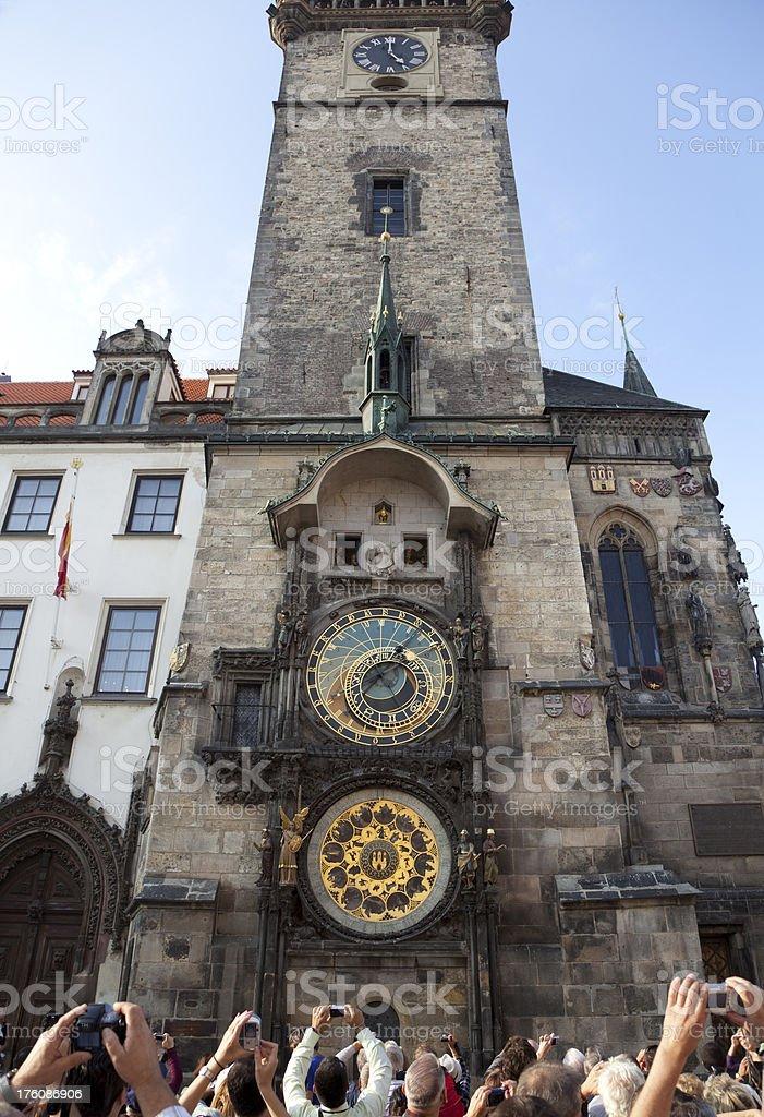 The Astronomical Clock (Orloj) in Prague royalty-free stock photo