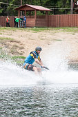the athlete goes in for wakeboarding on May 28, 2016.