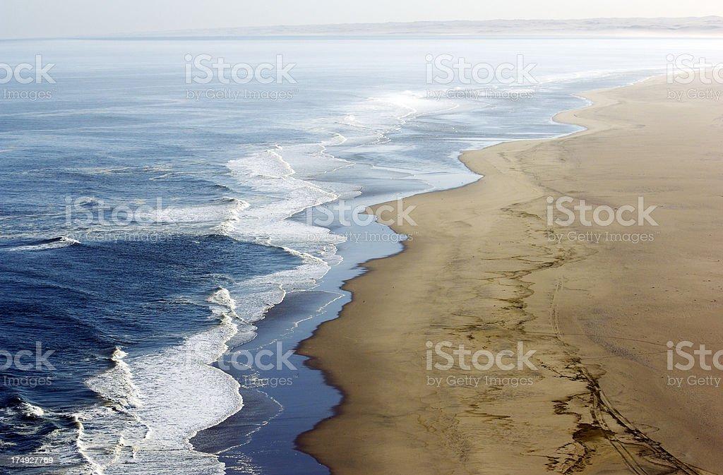 The atlantic ocean early morning stock photo