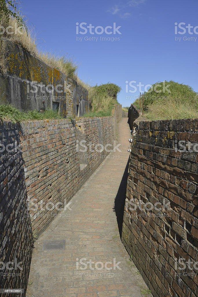 The Atlantic wall royalty-free stock photo