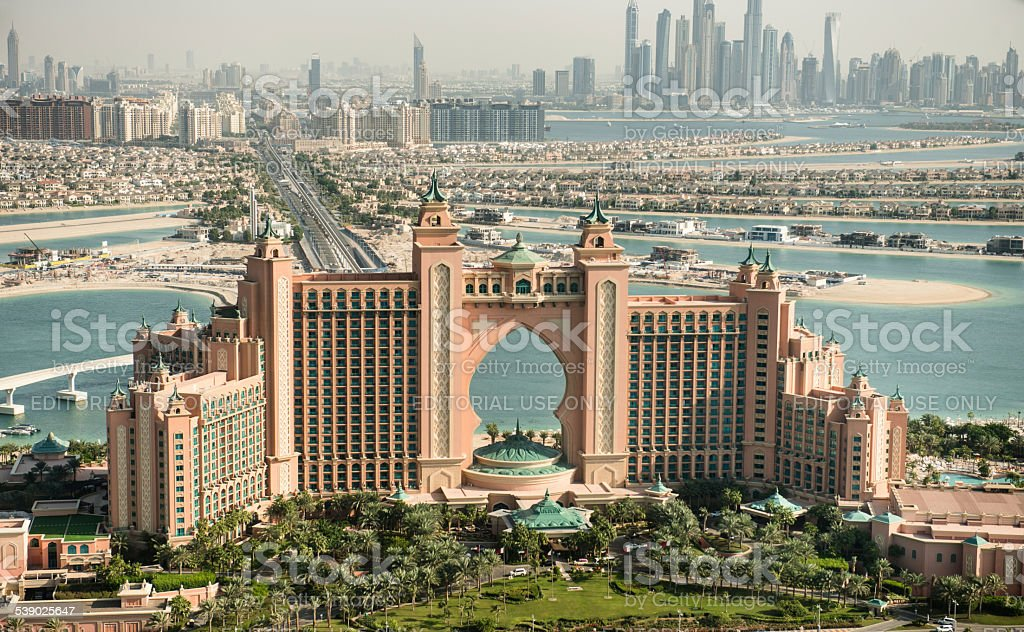 The Atlantis Resort at La Palm - Dubai stock photo