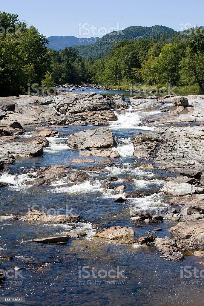 The Au Sable River stock photo