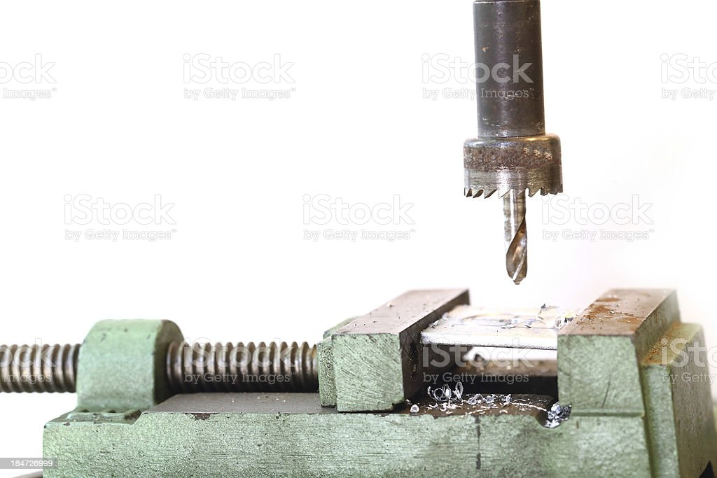 The Auger is  drill steel royalty-free stock photo