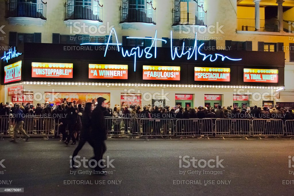 The August Wilson Theatre, Broadway, New York City royalty-free stock photo
