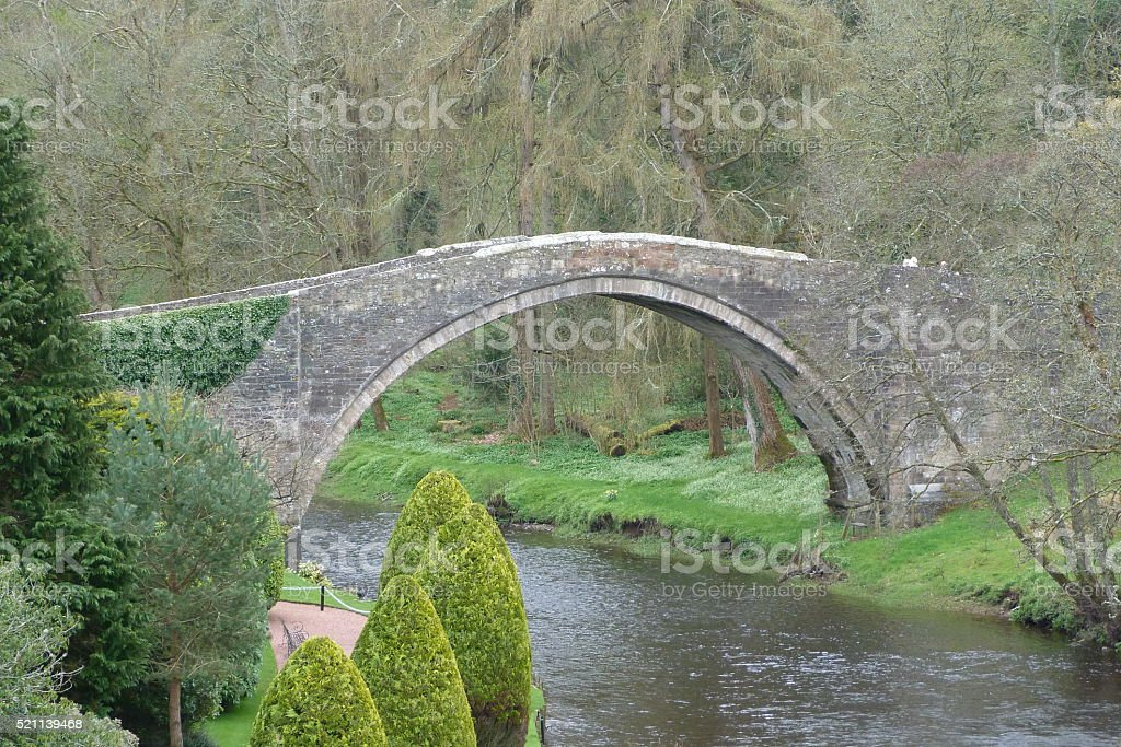 The Auld Brig at Alloway stock photo