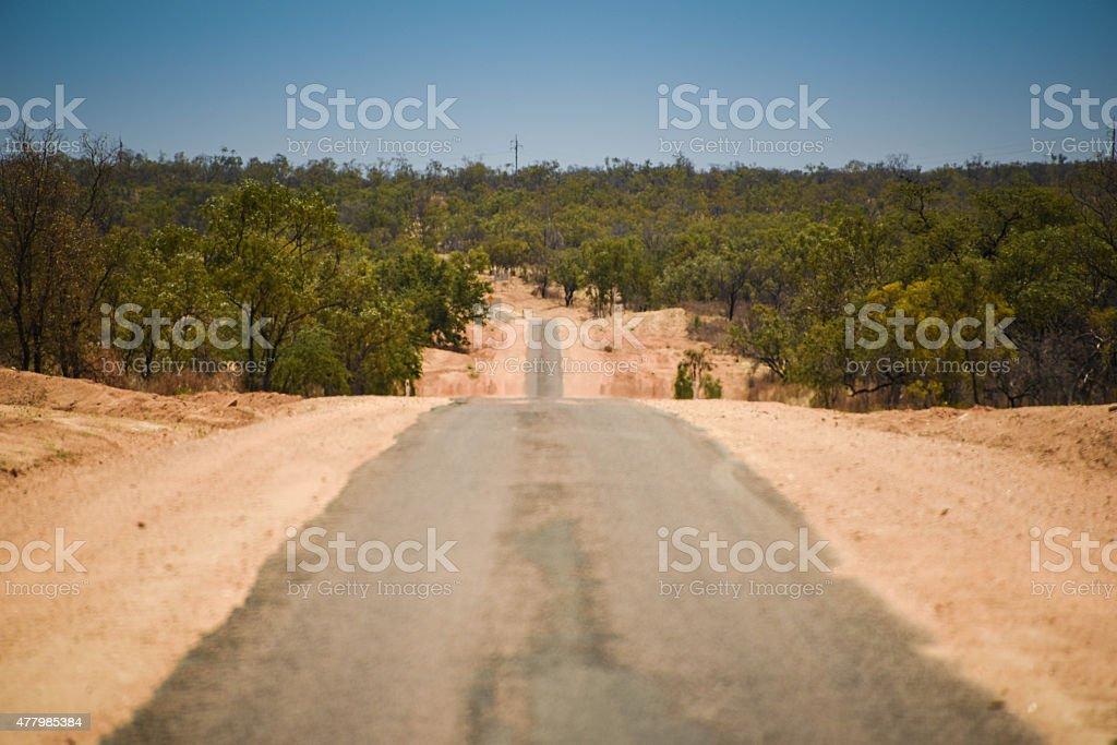 The Australian road stock photo
