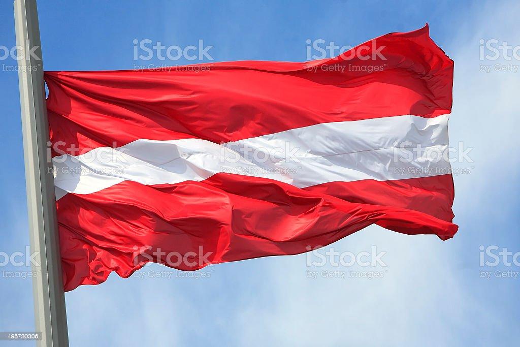 The Austrian flag stock photo