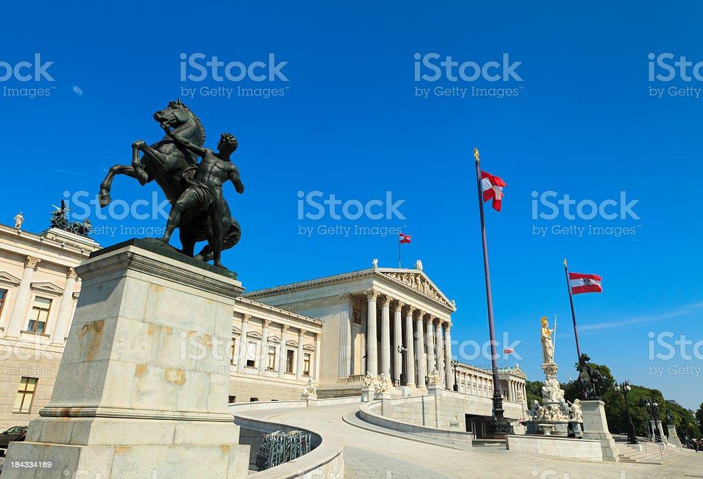 The Austrian Parliament Building stock photo