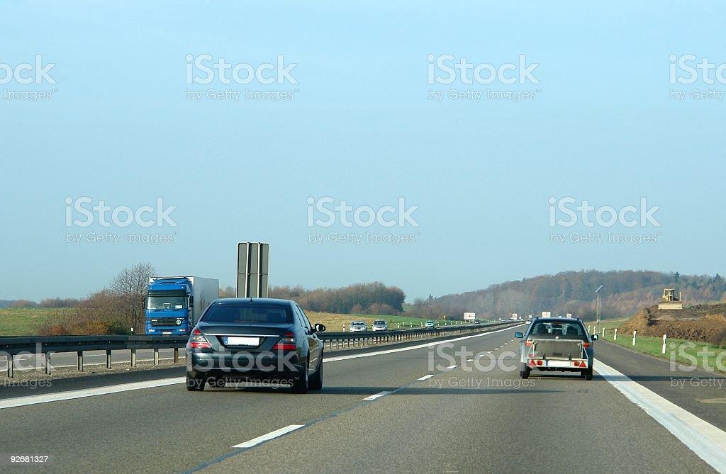The Autobahn stock photo