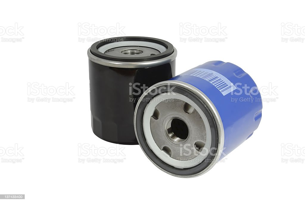 The automobile fuel filters royalty-free stock photo