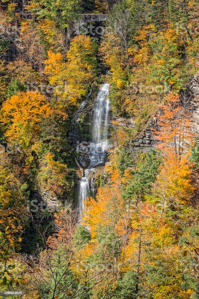 The Autumn Colors Of Letchworth State Park stock photo