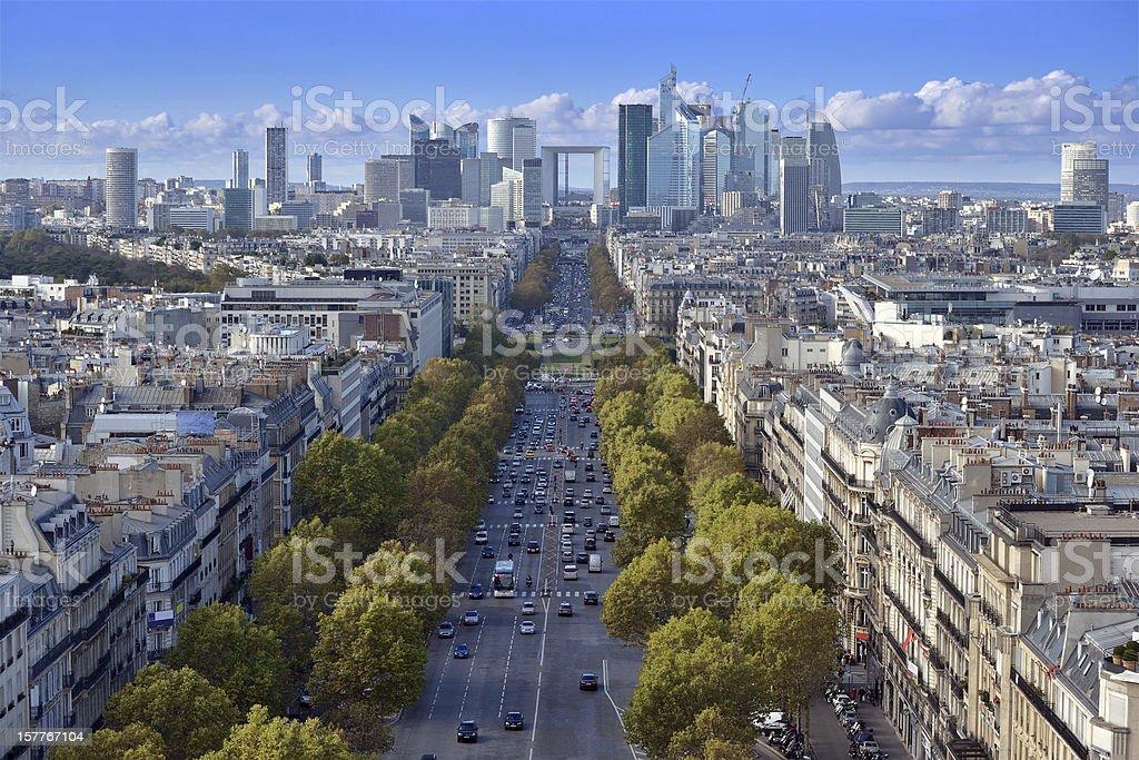 The Avenue de la Grande Arm?e. stock photo