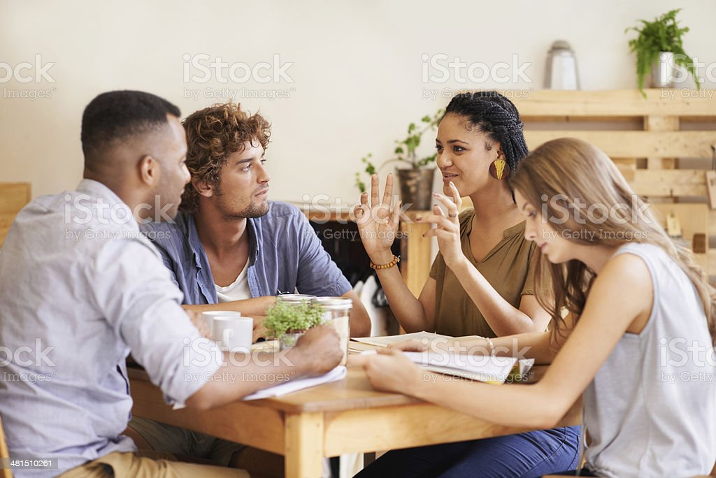The Awesome Study Group stock photo