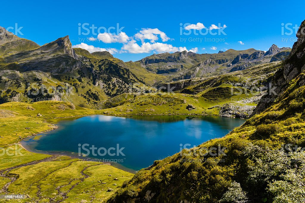 The Ayous Lake stock photo
