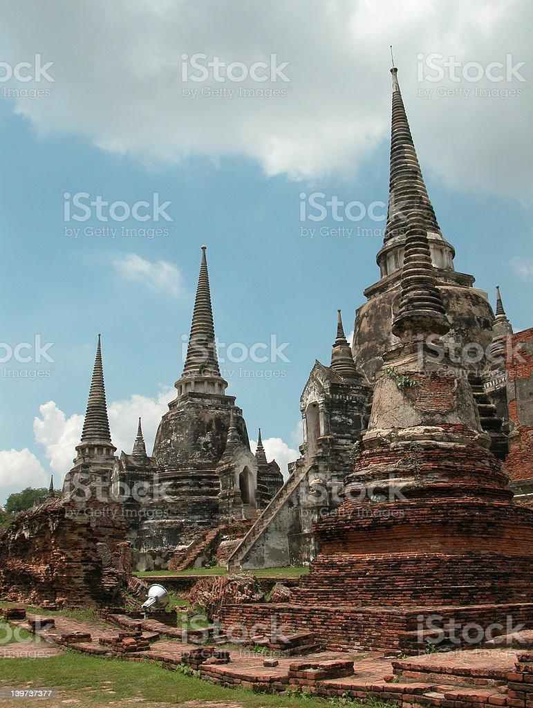 The Ayuthaya Ruins royalty-free stock photo
