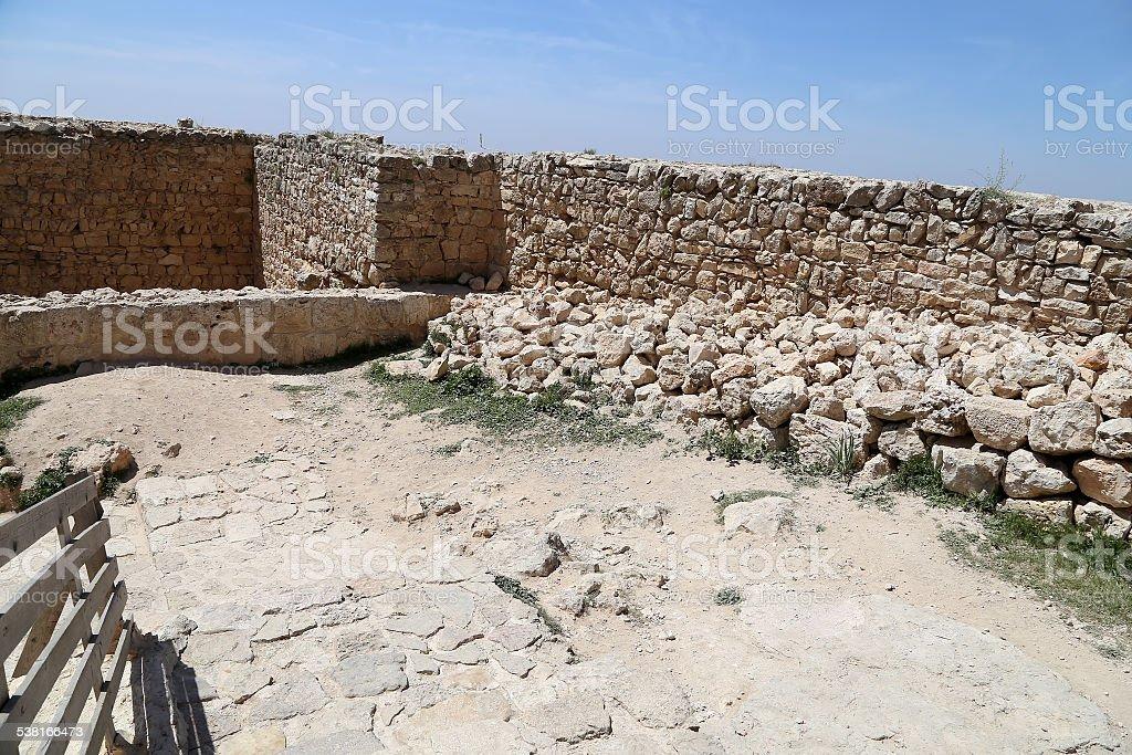 The ayyubid castle of Ajloun in northern Jordan, Middle East stock photo