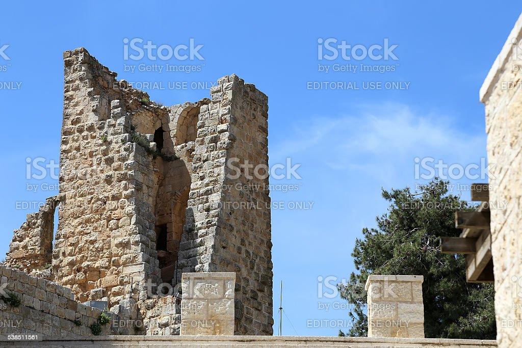 The ayyubid castle of Ajloun in northern Jordan stock photo