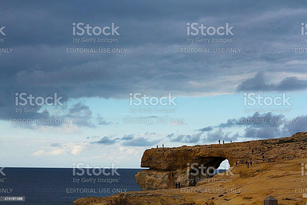 La Finestra Azzurra di Gozo foto stock royalty-free