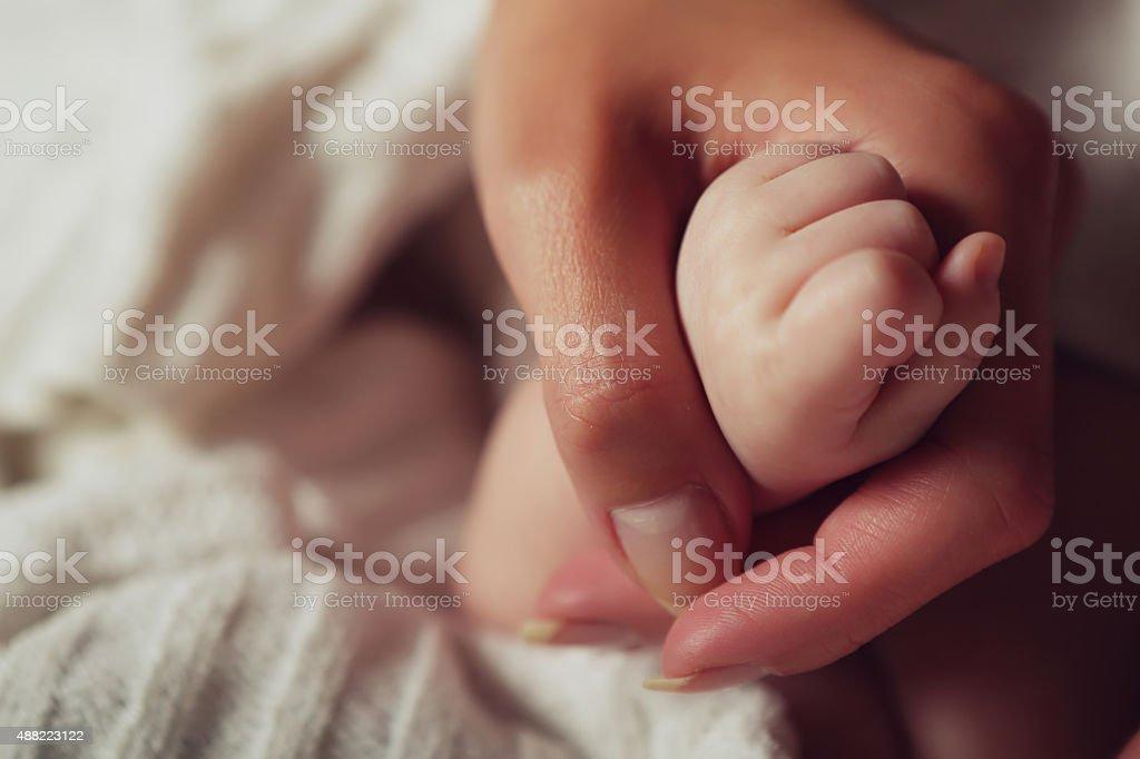 Das baby und Mutter Lizenzfreies stock-foto