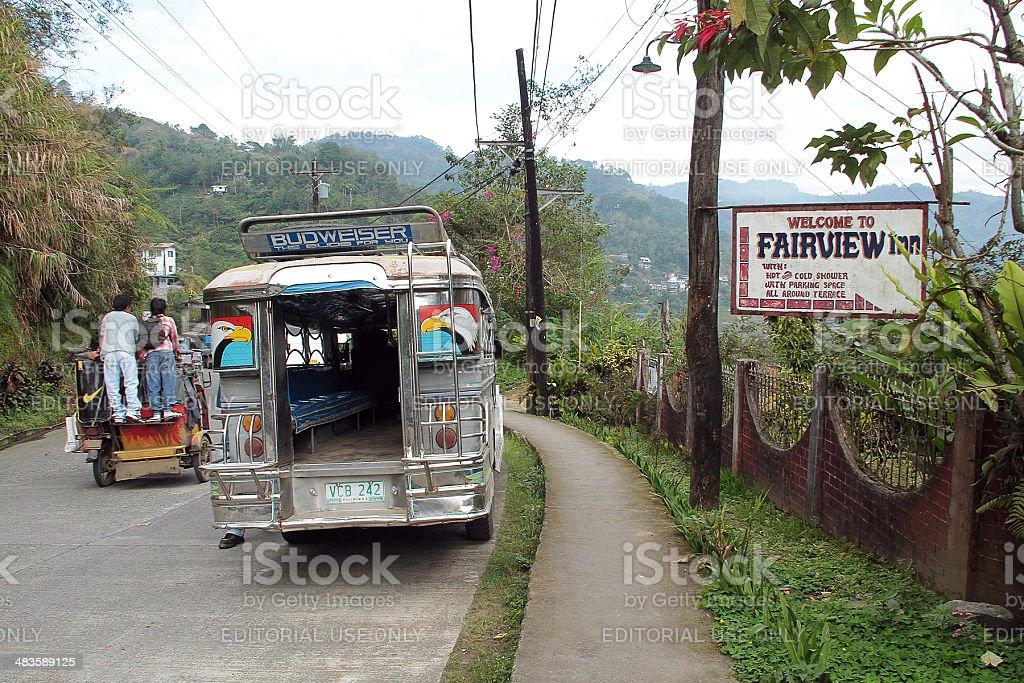 Retro di un Jeepney di Banaue foto stock royalty-free