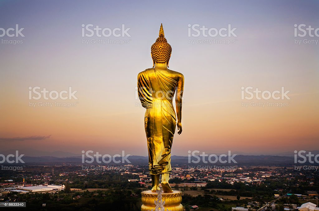 The back of the Buddha stock photo