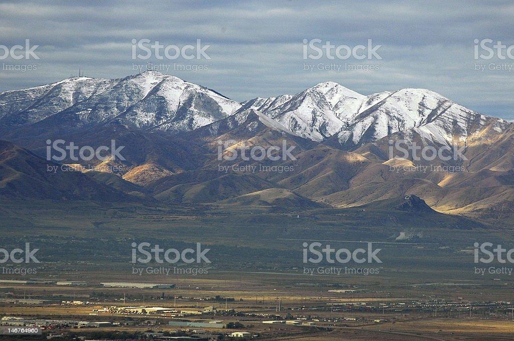 The Backdrop of Salt Lake City, Utah stock photo