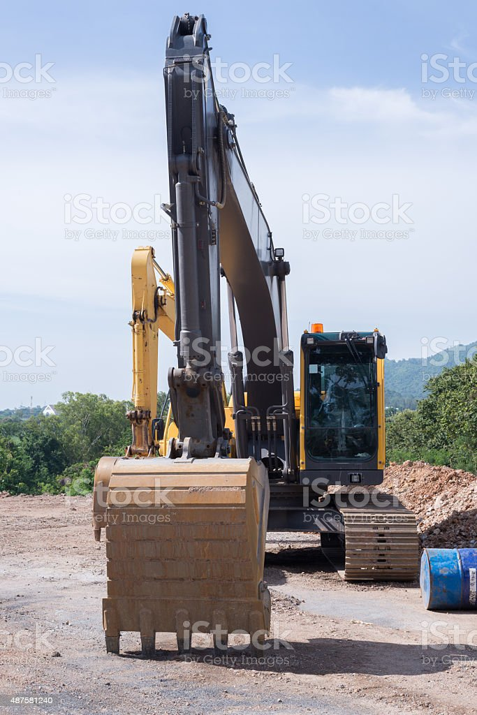 The Backhoes stock photo