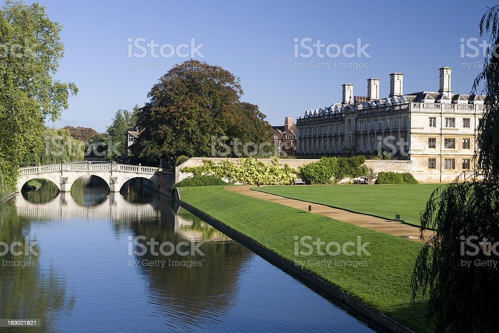 The Backs of Kings College Cambridge stock photo