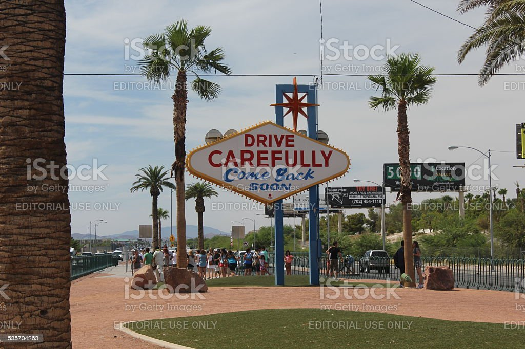 The backside of the famous Welcome to Las Vegas sign stock photo