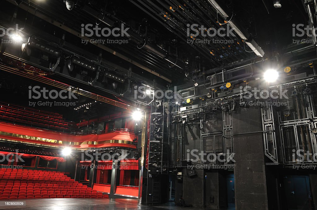 The backstage of a public theatre royalty-free stock photo
