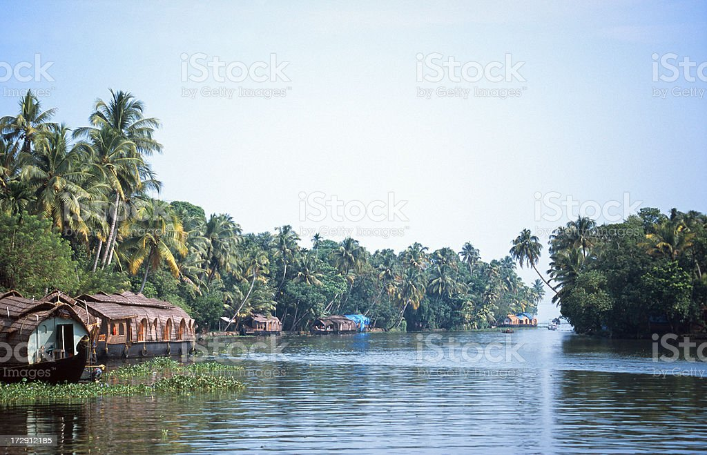 The backwaters of Allepey stock photo