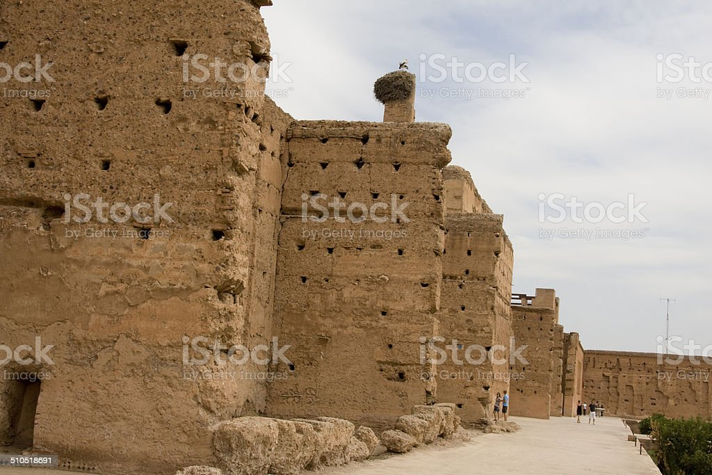 El Badi Palace, Marrakesh stock photo
