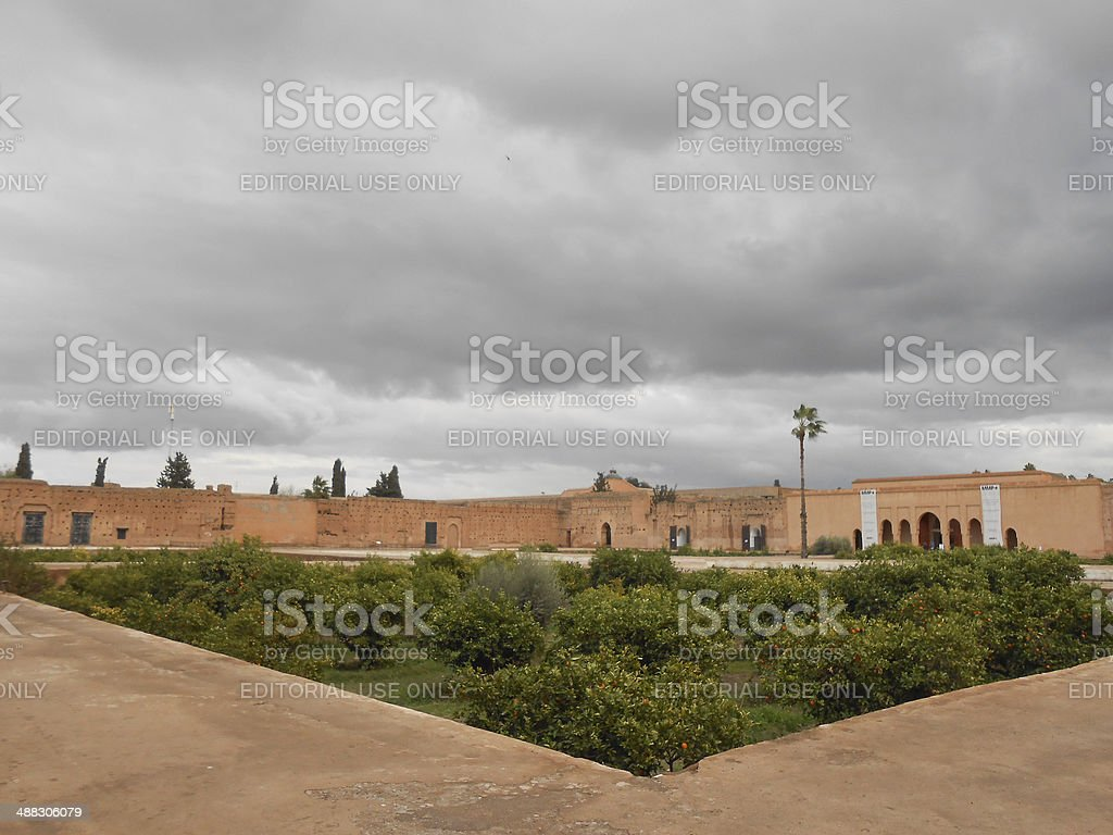 El Badi Palace stock photo