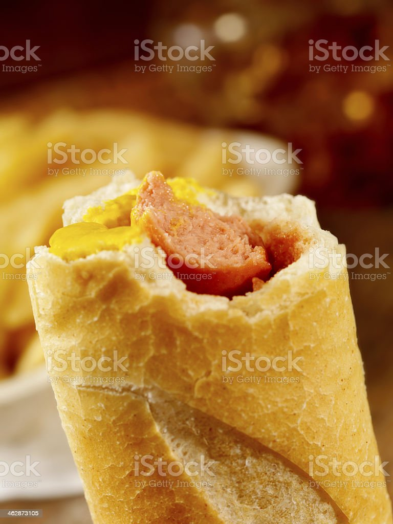 The Baguette Dog stock photo