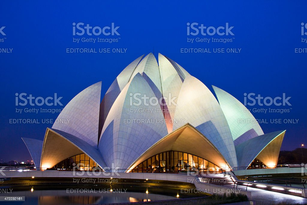 The Bah?'? Lotus Temple, New Delhi, India stock photo