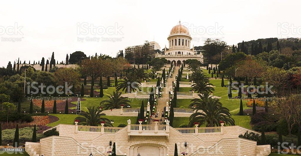 The Bahai religion world center, Haifa Israel stock photo