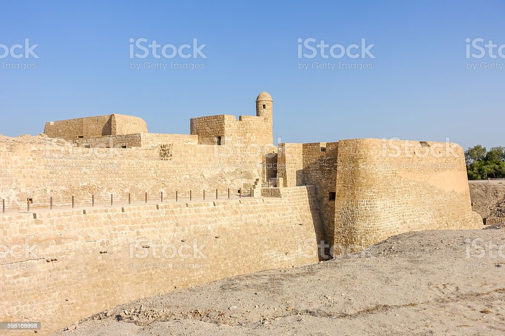 The Bahrain Fort stock photo