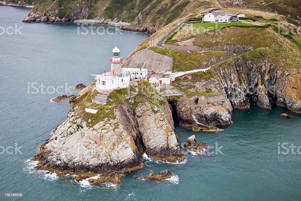 The Baily Lighthouse Howth Ireland royalty-free stock photo