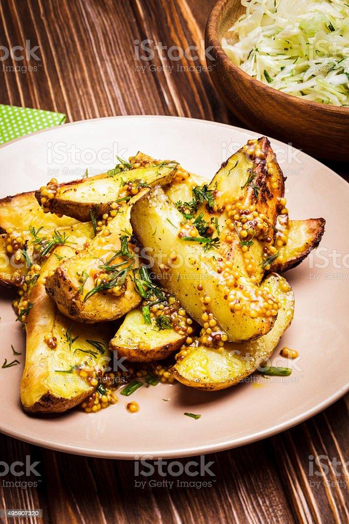 The baked potato stock photo