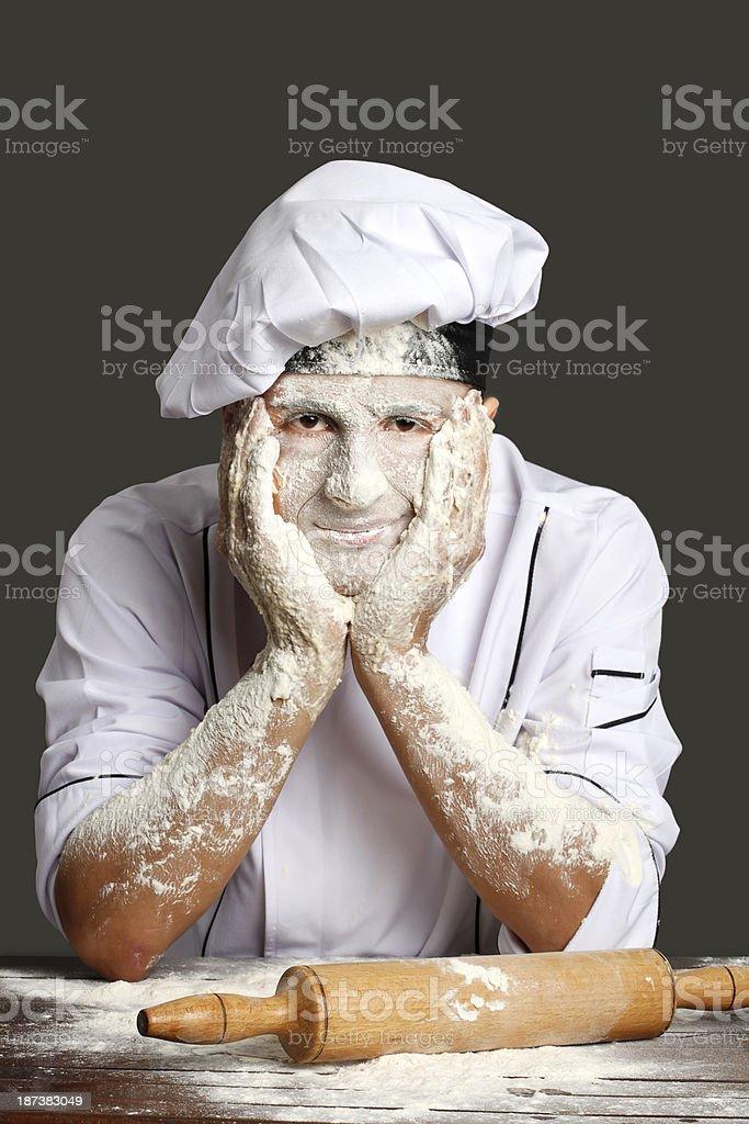 The Baker royalty-free stock photo