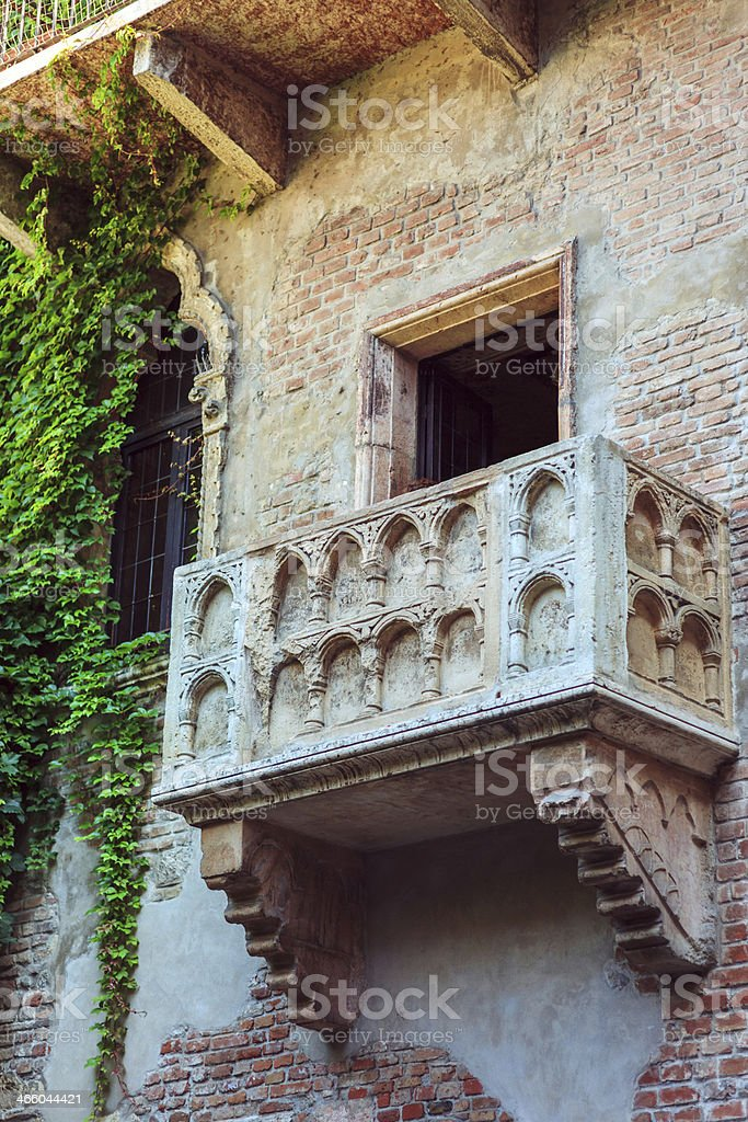 The Balcony of Juliet in Verona, Italy. royalty-free stock photo