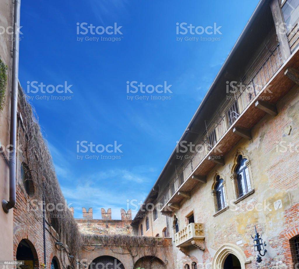 The balcony of Juliet's house in Verona, Italy stock photo
