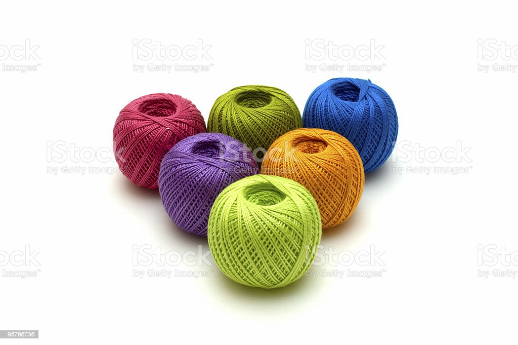 the ball of threads royalty-free stock photo