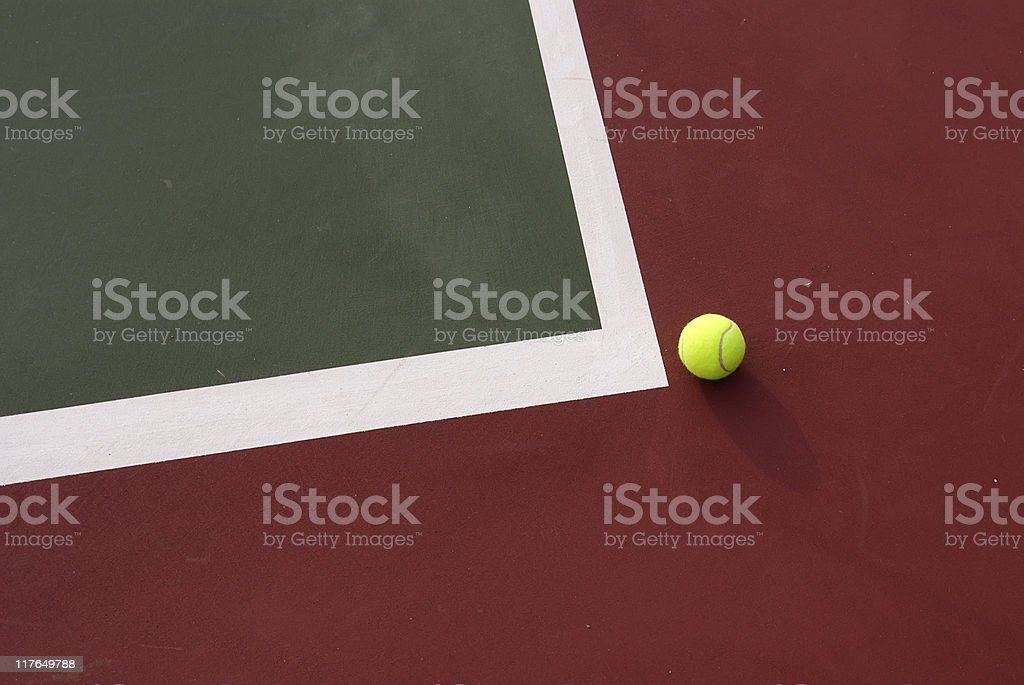 The ball was out !! stock photo