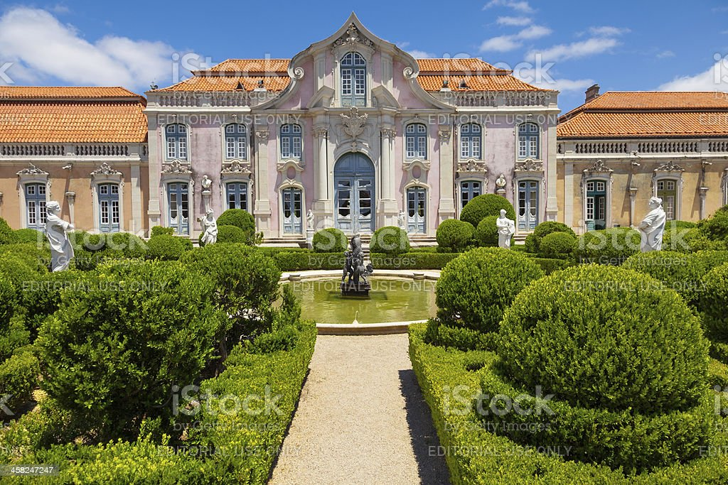 The Ballroom wing of Queluz National Palace royalty-free stock photo